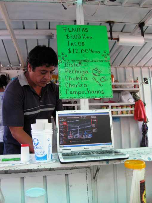 Looking for fast internet? The Corner Taco Stand.